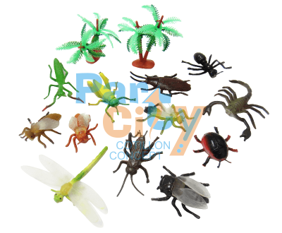 animales insectos en blister x20