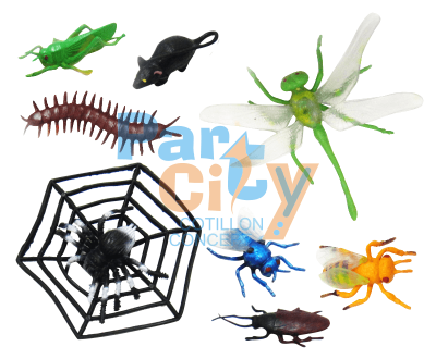Animales en blister insectos x8