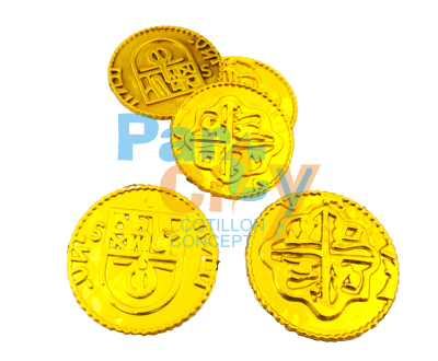 Monedas pirata oro x12