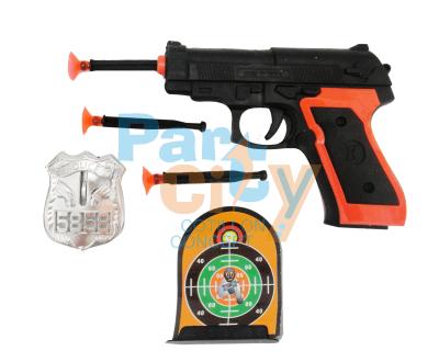 revolver con dardos y accesorios
